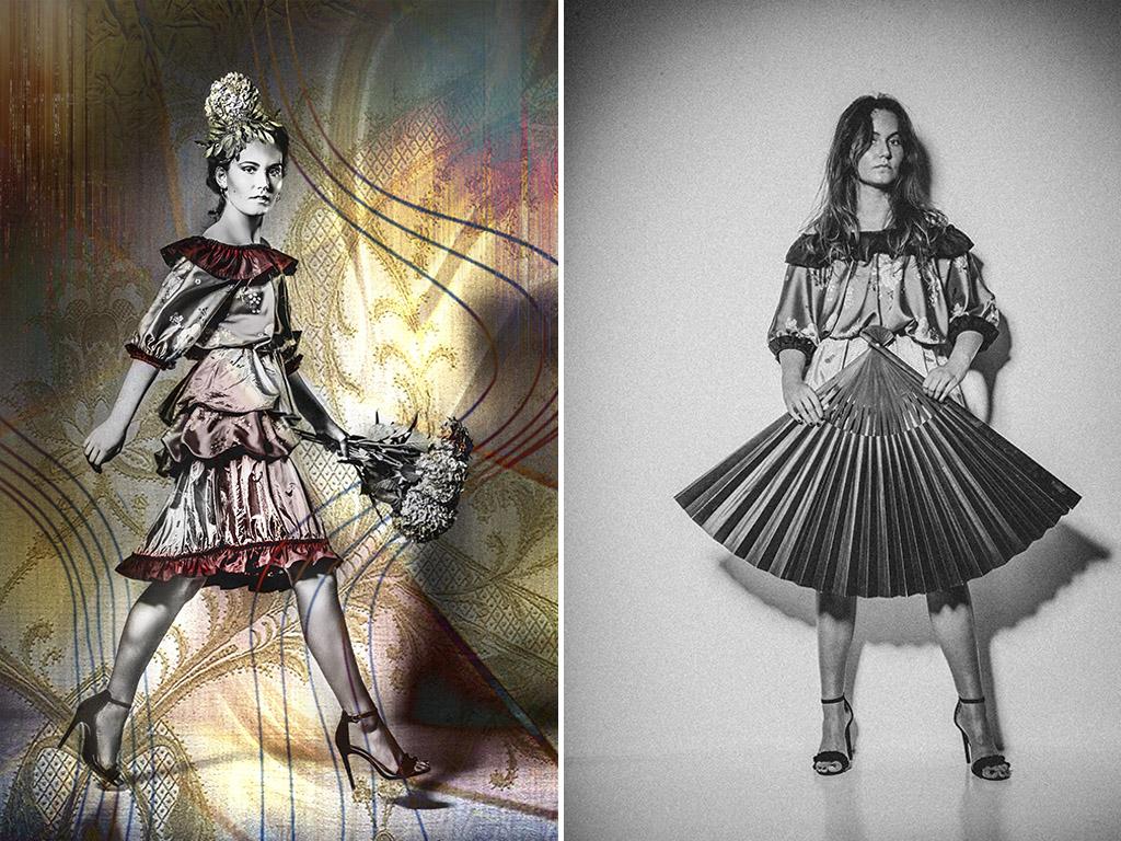 fotodesign ilona voss fotografie photography art kunst kreativ faecher mode editorial blumen hortensie designer kleid
