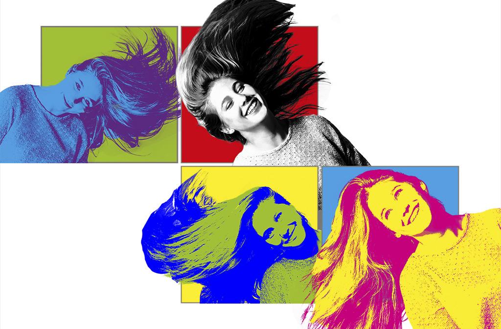 fotodesign ilona voss fotografie photography art kunst kreativ hair popart warhol